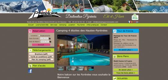 Nouveau Site Internet pour le Camping Sites et Paysages Pyrenevasion à Luz Saint Sauveur